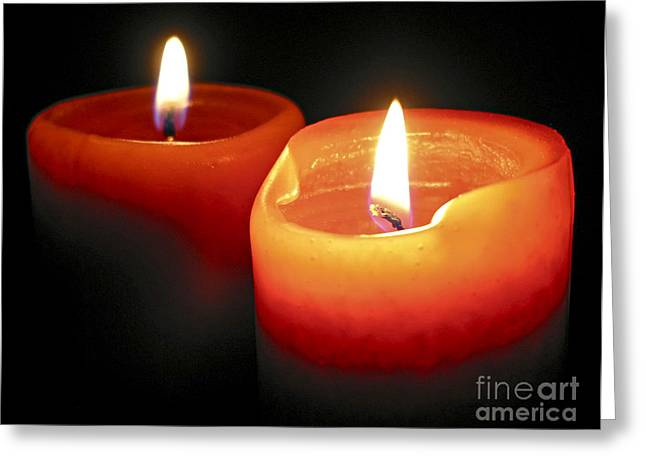 Burning Candles Greeting Card by Elena Elisseeva