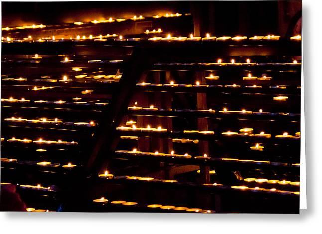 Burning Candles Greeting Card by Viacheslav Savitskiy