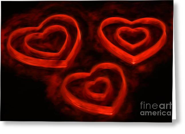Burning Loveii Greeting Card by Darren Fisher