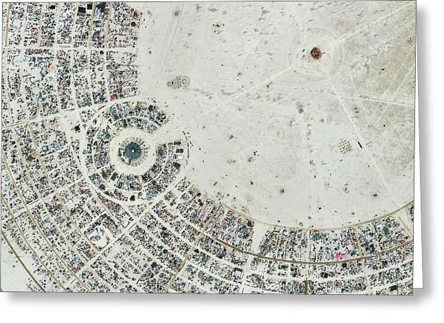 Burning Man Festival Greeting Card