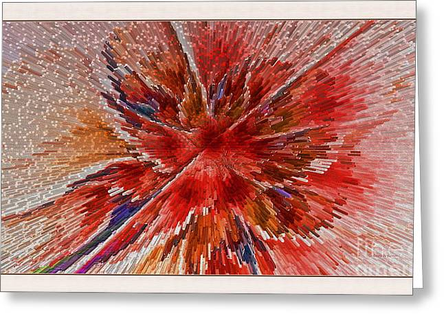 Burning Passion Of Love Greeting Card