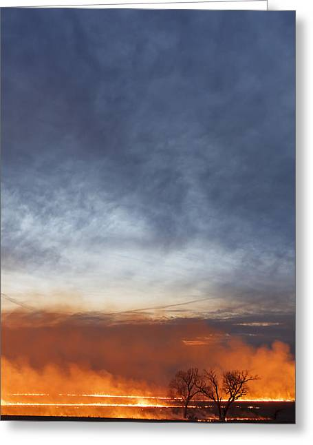 Greeting Card featuring the photograph Burning by Scott Bean