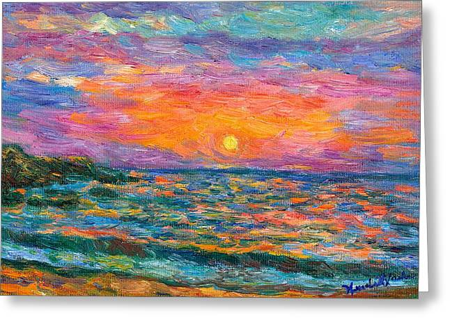 Burning Shore Greeting Card by Kendall Kessler