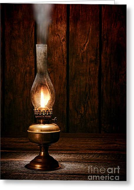 Burning The Midnight Oil Greeting Card by Olivier Le Queinec
