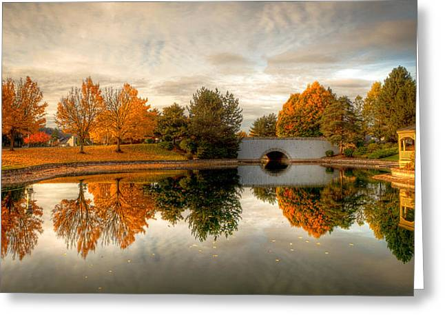 Burning Trees Greeting Card by Anthony J Wright