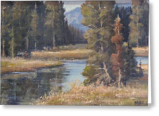 Burnished Meadow Greeting Card by Mar Evers