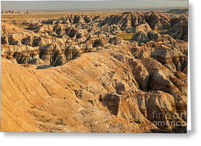 Burns Basin Overlook Badlands National Park Greeting Card