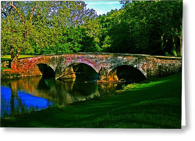 Greeting Card featuring the photograph Burnside Bridge by Andy Lawless