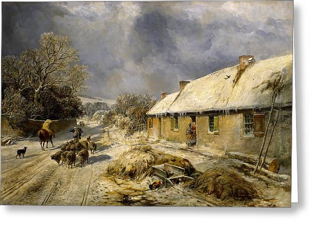Burnss Cottage, Alloway, 1876 Greeting Card by Samuel Bough