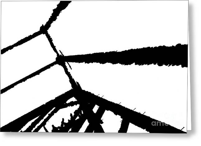 Greeting Card featuring the photograph Burnt Timbers by Robert Riordan