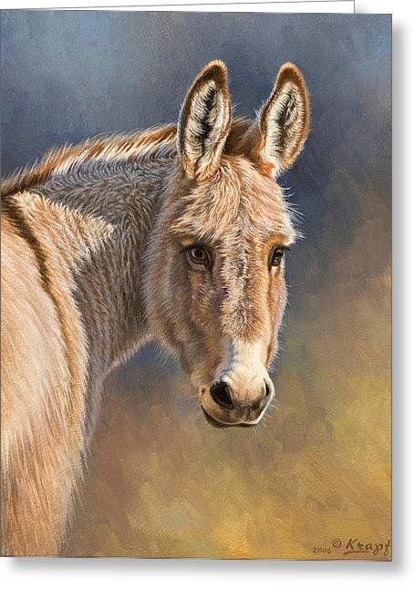 Burro Greeting Card by Paul Krapf