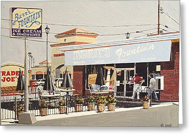 Burr's On Folsom Boulevard Greeting Card by Paul Guyer
