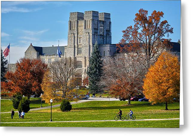Burruss Hall Greeting Card by Mitch Cat