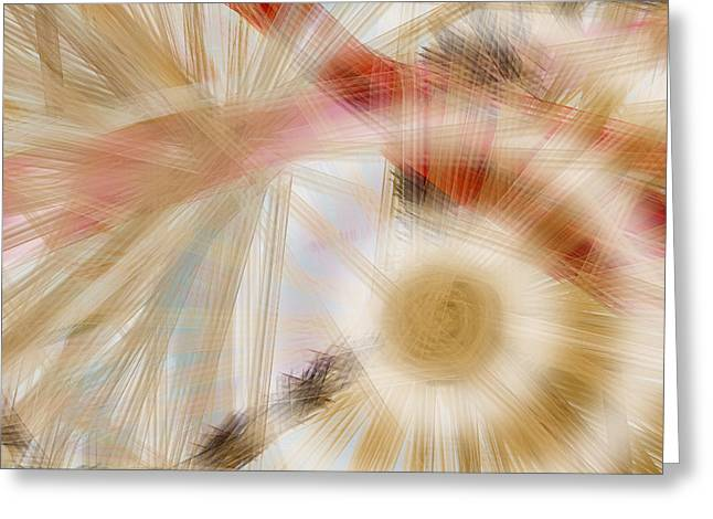 Bursting Brushes Greeting Card by Constance Krejci