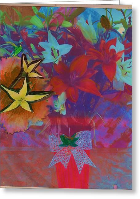 Bursting With Life Greeting Card by Anne-Elizabeth Whiteway