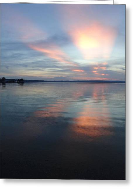 Burt Lake Sunset Greeting Card