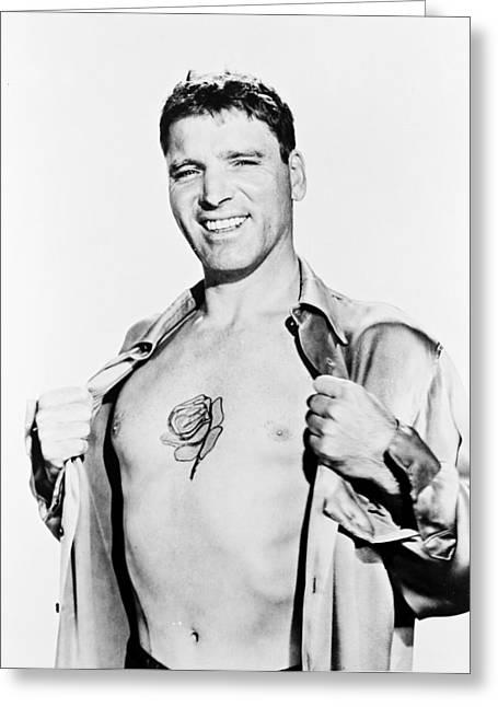 Burt Lancaster In The Rose Tattoo Greeting Card