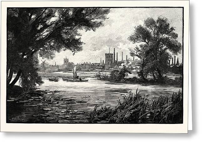 Burton Upon Trent, Also Known As Burton-on-trent Or Simply Greeting Card by English School