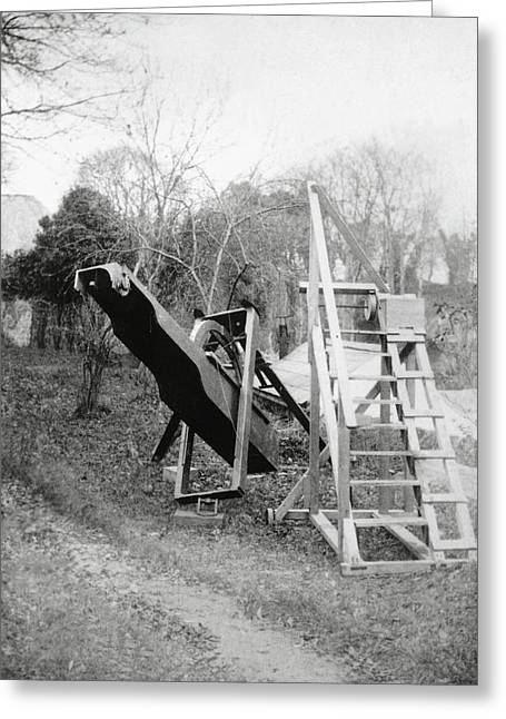 Burton's Telescope Greeting Card by Royal Astronomical Society/science Photo Library