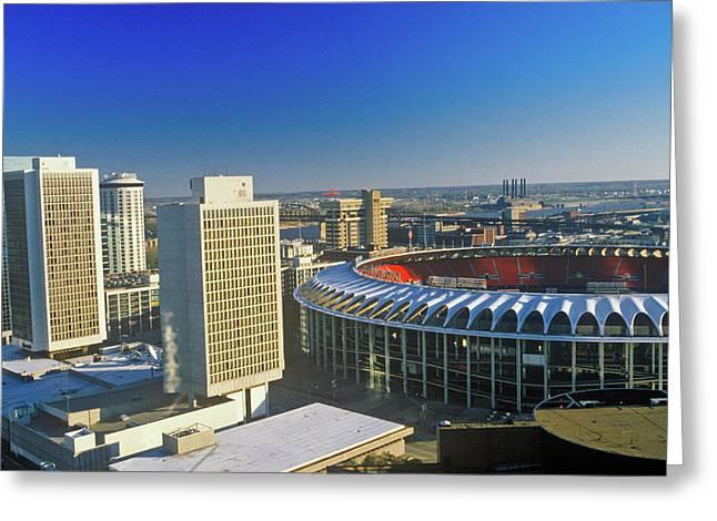 Busch Stadium, Downtown St. Louis, Mo Greeting Card