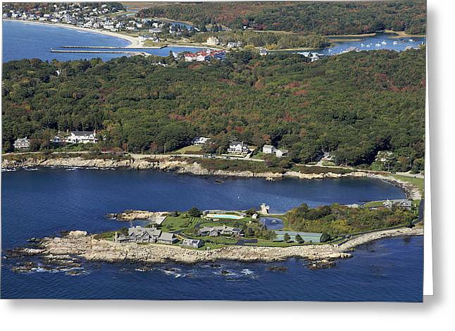 Bush Compound, Kennebunkport Greeting Card by Dave Cleaveland