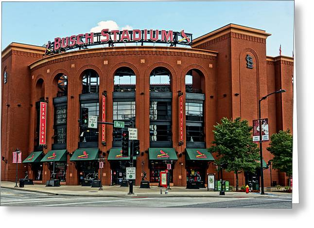 Busch Stadium Home Of The St Louis Cardinals Greeting Card