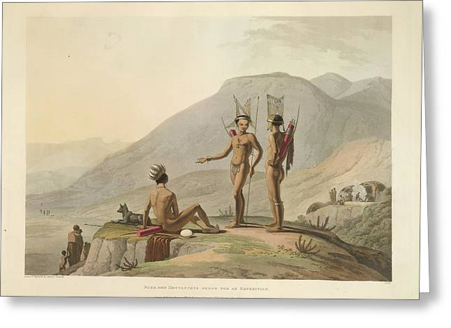 Bushmen Hottentots Greeting Card by British Library