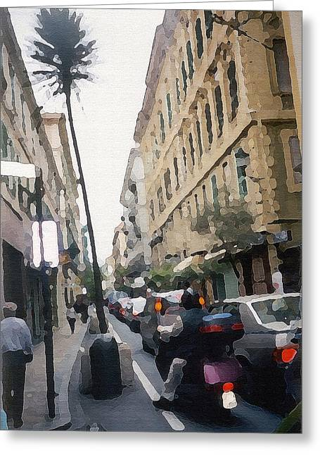 Busi Street Greeting Card by Piero Lucia