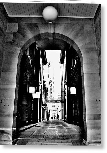 Business Alley - Melbourne - Australia Greeting Card