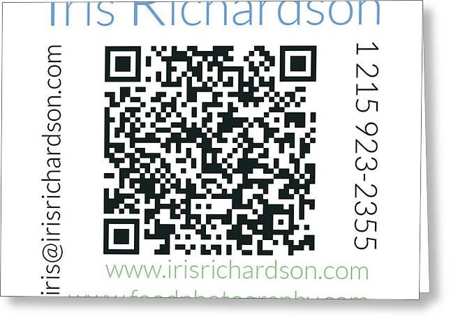 Business Card Back Greeting Card by Iris Richardson