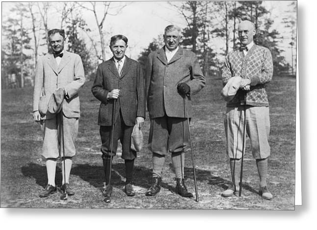 Business Leaders Play Golf Greeting Card by Underwood Archives