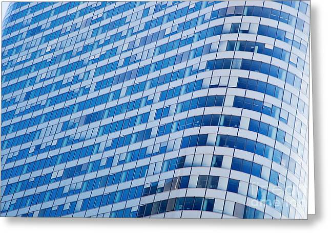 Business Skyscrapers Modern Architecture Greeting Card by Michal Bednarek