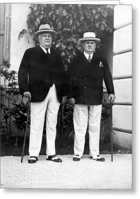 Businessmen In Havana Greeting Card by Underwood Archives