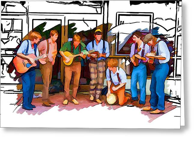 Busker Band Greeting Card