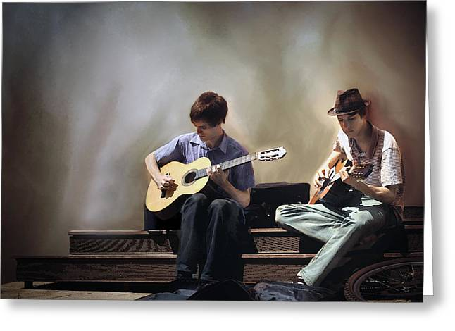 Buskers Greeting Card