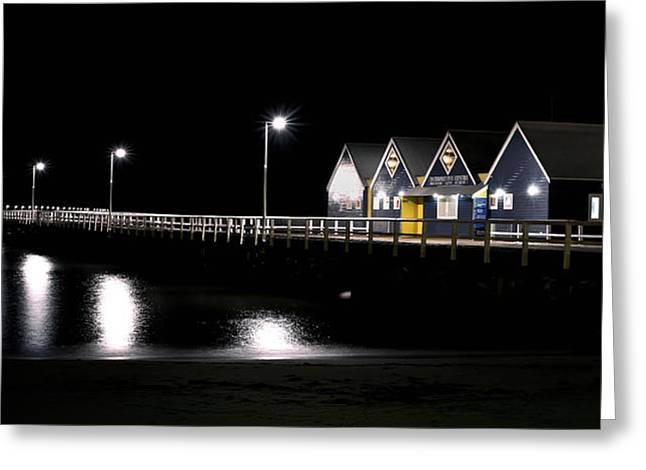 Busselton Jetty Greeting Card by Niel Morley