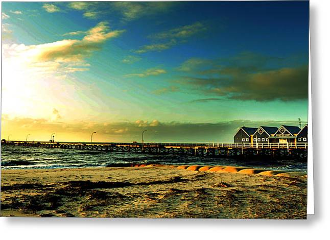 Busselton Jetty Greeting Card by Yew Kwang