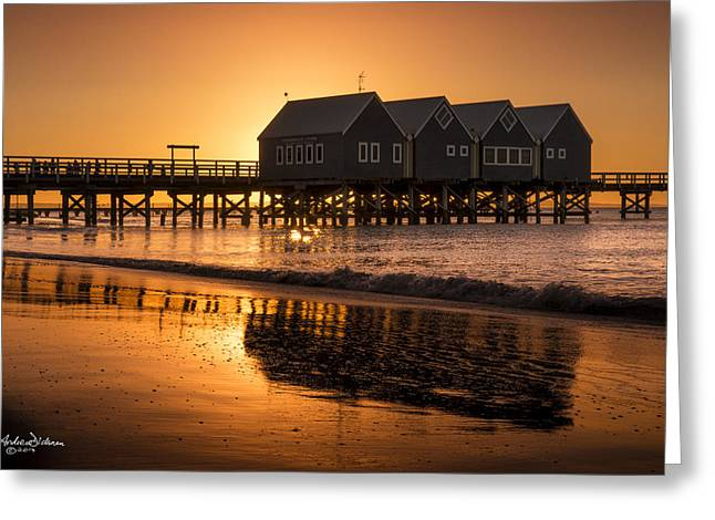 Busselton Sunset Greeting Card