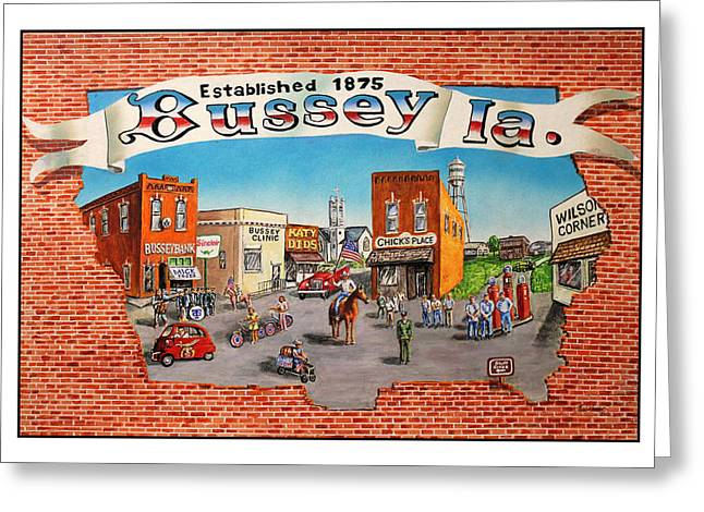 Bussey Mural Greeting Card by Todd Spaur