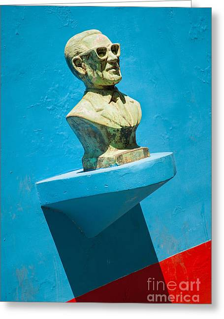 Bust And Shadow Greeting Card by OUAP Photography