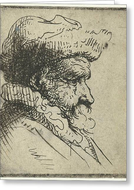 Bust Of A Man, Anonymous Greeting Card