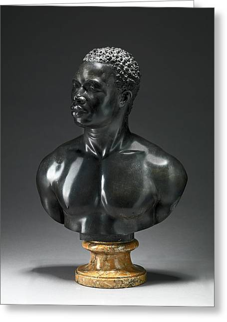 Bust Of A Man Bust Reputedly Of Psyche, An Athlete Greeting Card