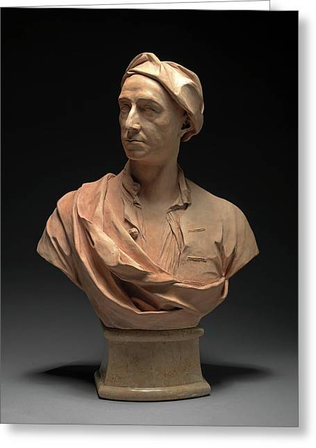 Bust Of A Man, Probably Pieter Tillemans Incised On Back Greeting Card