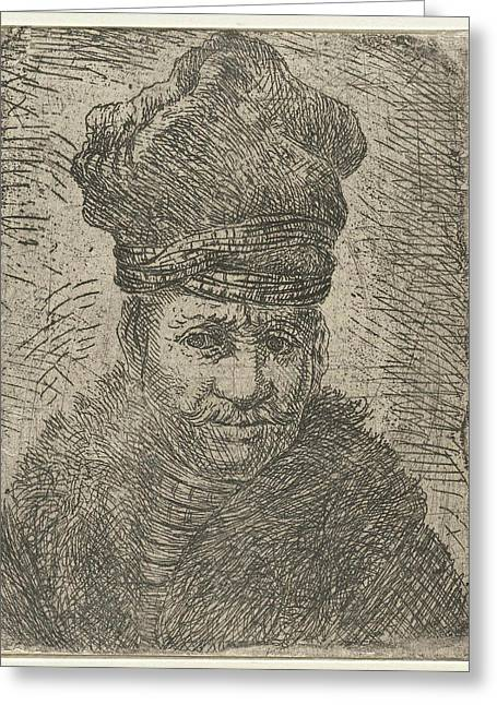 Bust Of A Man With A Polish Hat. Anonymous Greeting Card by Jan Gillisz. Van Vliet And Rembrandt Harmensz. Van Rijn