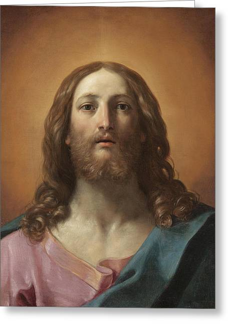 Bust Of Christ Greeting Card by Guido Reni