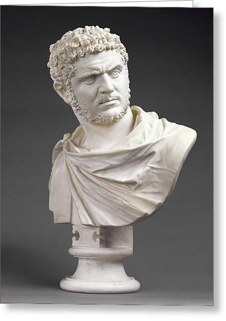 Bust Of Emperor Caracalla Born 188 Greeting Card