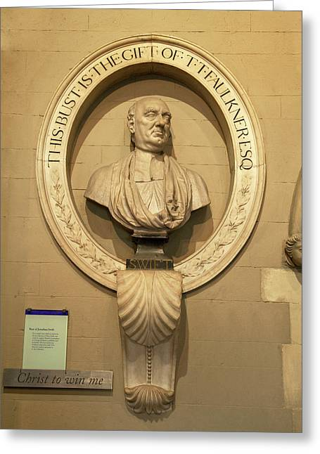 Bust Of Jonathathan Swift, Dean Greeting Card by Panoramic Images