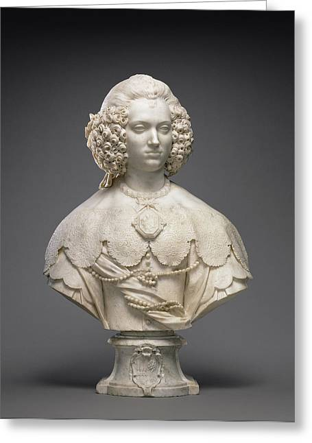 Bust Of Maria Cerri Capranica Attributed To Alessandro Greeting Card by Litz Collection