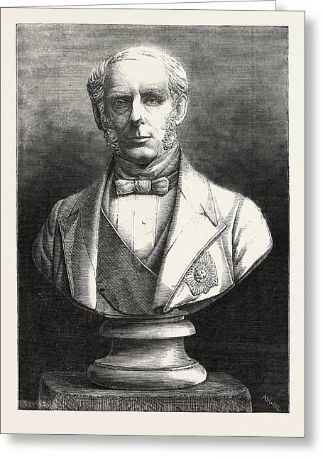 Bust Of The Right Hon. Sir J. Pakington Greeting Card