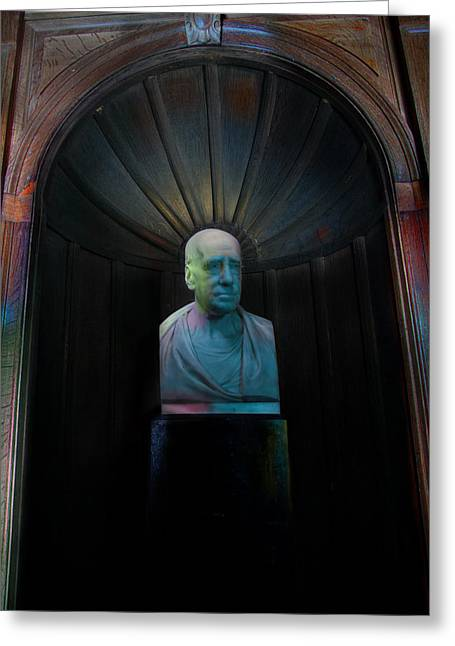 Bust With Coloured Lights Paxton House Greeting Card by Niall McWilliam